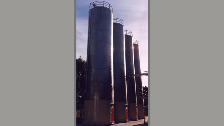Silos de acero inoxidable