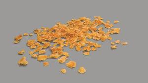 Muestra de maiz en forma de copos