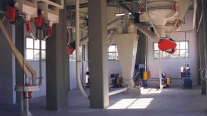 Transporte neumático de productos en molino harinero