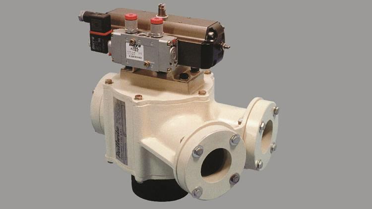 Valvula de desvio giratoria para transporte neumático