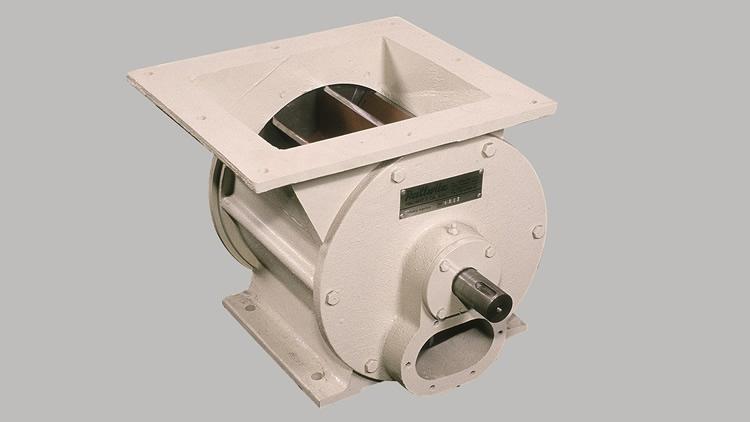 Valvula esclusa giratoria de paso horizontal de admisión